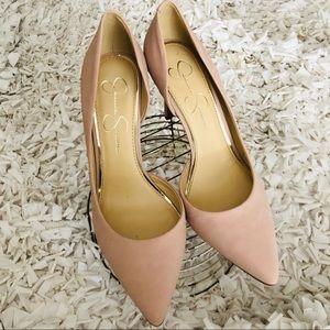 Jessica Simpson Livvy Pink Blush Heels. NWOB